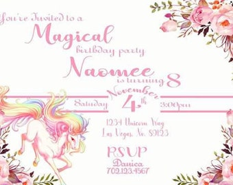Magical Unicorn Pink text
