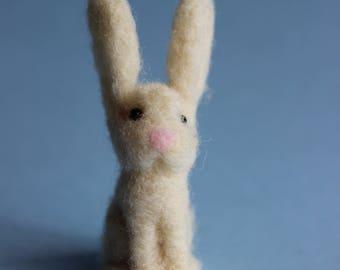 Easter Bunny; Handmade Needle Felted Easter bunny