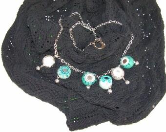 Felt chain, unique necklace, handmade