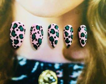 Leopard Print Press on Nails