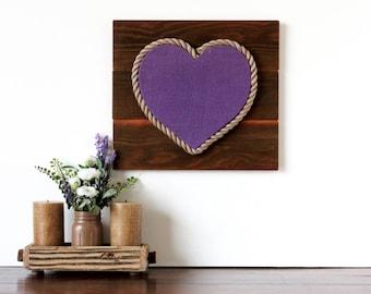 "12"" Rustic Burlap Wood Heart on Cedar Frame - rustic heart, burlap heart, wooden heart decor, wedding, valentine's day, wall decor, veteran"