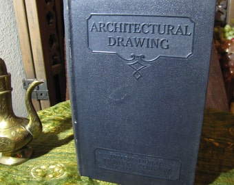 """Vintage """"Architectural Drawing Parts I & II"""" by the International Textbook Company of Scranton PA copyright 1930 and 1932 #239"""