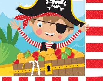 Pirate party,Little Pirate Luncheon Napkin,Pirate Party,Boys Party,Paper Napkin