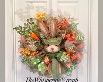 Easter Wreath - Bunny Wreath - Easter Wreaths - Bunny Wreaths - Spring Wreath - Spring Wreaths