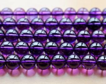 8mm Lavender Quartz, AA grade, full strand, natural stone beads, round, 80061