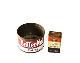 Butter-Nut Coffee Tin & Cream of Tartar Tin