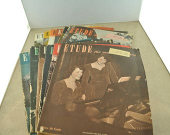 The Etude Magazine of 1949 - Quantity of 12