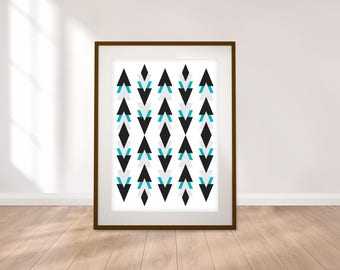 Abstract Geometric Digital Print - 5 Sizes - Instant Download
