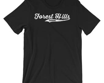Forest Hills Queens T-shirt : Retro Queens Vintage NYC Tee Short-Sleeve Unisex T-Shirt