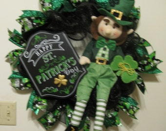 St Patrick's Day Leprechaun and Sign
