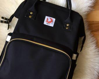 Diaper Bag: Diaper Backpack + Changing Pad
