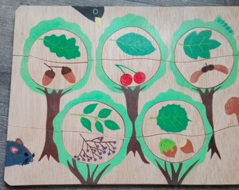 """Puzzle story """"Trees and fruits"""""""