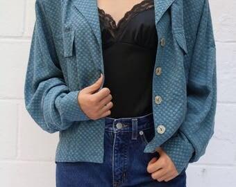 Vtg Seafoam Textured Jacket