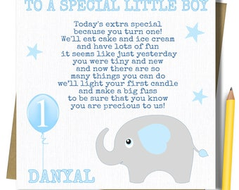 1st birthday card etsy personalised boys 1st birthday card first birthday card for brother godson son grandson nephew bookmarktalkfo Image collections