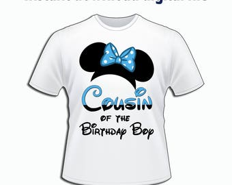 DIY Minnie Mouse Cousin, Disney Family T-Shirts iron on, Disney Birthday Party T-shirt Personalized Matching