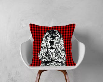 Cocker Spaniel Dog,Spaniel,Decorative Pillow, Dog Pillowcase, Personalized Pet, Gift Love this Holiday Season or Just Brag About Your Pet.
