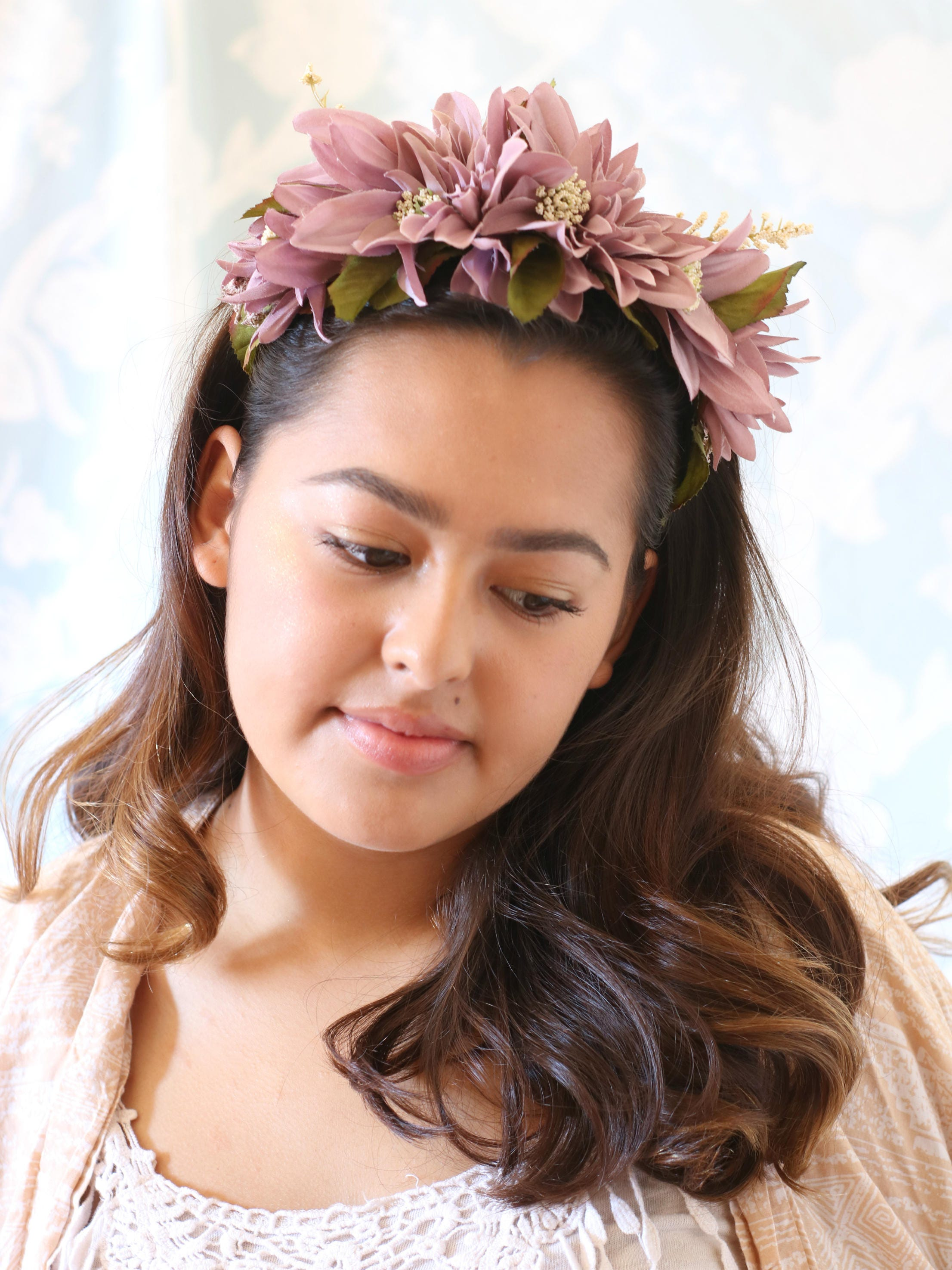 Flower Crown Silk Flower Crown Reversible Headband Frida Kahlo