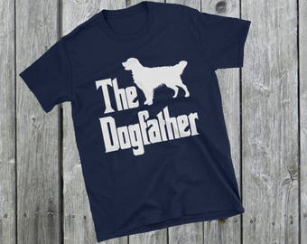The Dogfather t-shirt, Golden Retriever silhouette, funny dog gift, The Godfather parody, dog lover, dog gift, Short-Sleeve Unisex T-Shirt