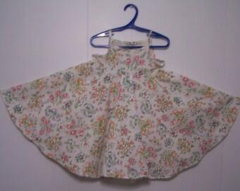 White Floral dress, kids floral dress, kids summer dres, girls floral dress
