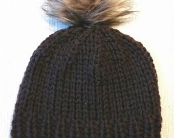 Chunky with Pom Pom Hat
