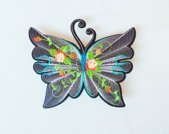 3Dbutterfly patch/large patch/iron on patch/sew on patch/patch for jacket