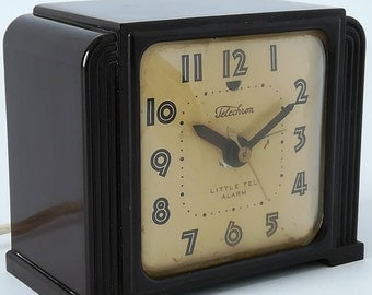 CLOCK electric alarm clock TELECHRON Little such Alarm Usa Vintage year 1940