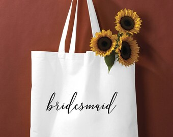 Bridal tote, bride Bag, Bridesmaid Tote, Bridesmaid Bag, Personalized Tote, Custom Tote Bag, Canvas Tote,wedding tote bag, bridesmaid gift
