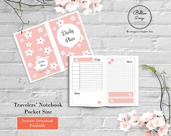 2 Page Daily Planner, Day on 2 Pages, Undated TN Inserts, Pocket TN Inserts, Pocket Printables, Daily TN Insert, Printable Planner Inserts