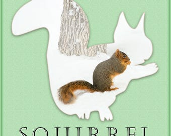 "12"" x 12"" Squirrel Wall Art"