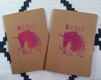 Unicorn Notebook, Believe in Magic