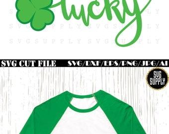Shamrock SVG, Lucky SVG, Saint Patrick's Day SVG, Luck cut file Clover vinyl for silhouette cameo cricut iron on transfer on mug shirt