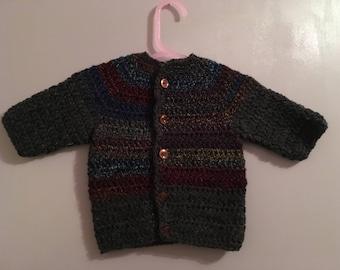 Crochet multi coloured cardigan