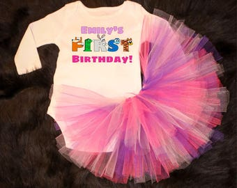 First Birthday! -  onesie / Tutu