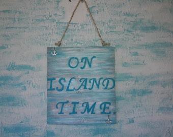 Beach themed sign