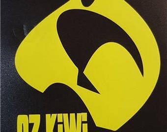 Oz Kiwi car window sticker