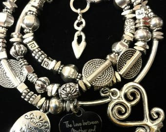 Leather Wrap Charm Bracelet
