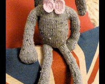 knitted grey bunny