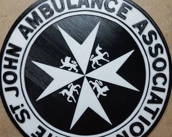 St. Johns Ambulance Tardis Sign (3d Printed)
