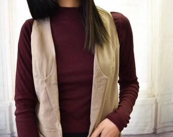 Vest with Welt Pockets and Back Detail