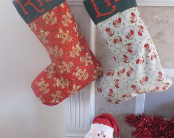 Large Traditional Christmas Stockings personalised