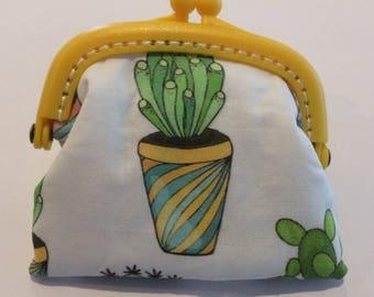 Yellow Cactus Coin Purse