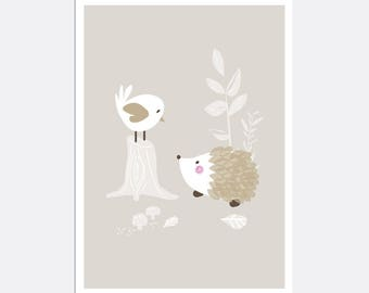 Prints for kids / posters for kids / nursery art / nursery wall art / nursery prints / nursery decor / kids room decor / hedgehog