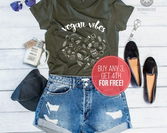 Vegan Vibes, Vegan Shirt, Vegan Vibes Shirt, Funny vegan shirt, Vegan funny shirt, Vegan T-shirt