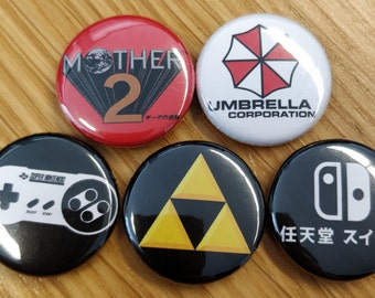 Video Game Badges 25mm