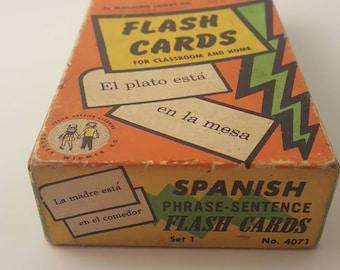 Vintage Spanish Flash Cards by Gelles Widmar