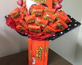 Reeseu0027s Valentine Candy Bouquet
