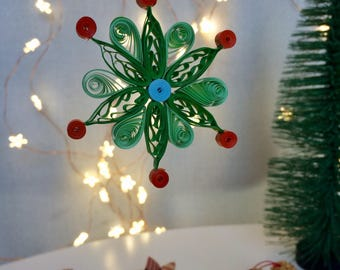 Kingdom of Elves - Christmas Decoration - Quilling - paper flower