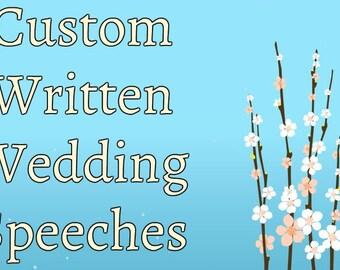 Custom Written Wedding Speeches Bridesmaid Speech Maid Of Honor Father The