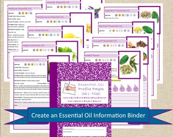doTERRA FILLED Printable Essential Oil Book Pages, Printable Worksheet PDF, Self Care Kit, Self Care Printables, Family Organization Journal