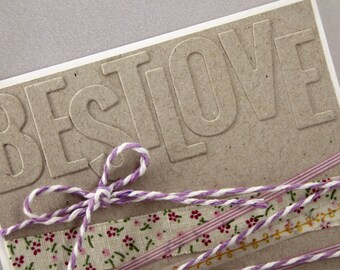handmade bestlove - embossing - ribbon - whasitape - string